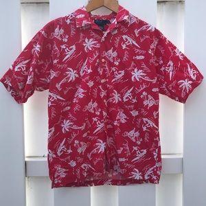 Vintage Polo By Ralph Lauren Hawaiian Shirt Rare